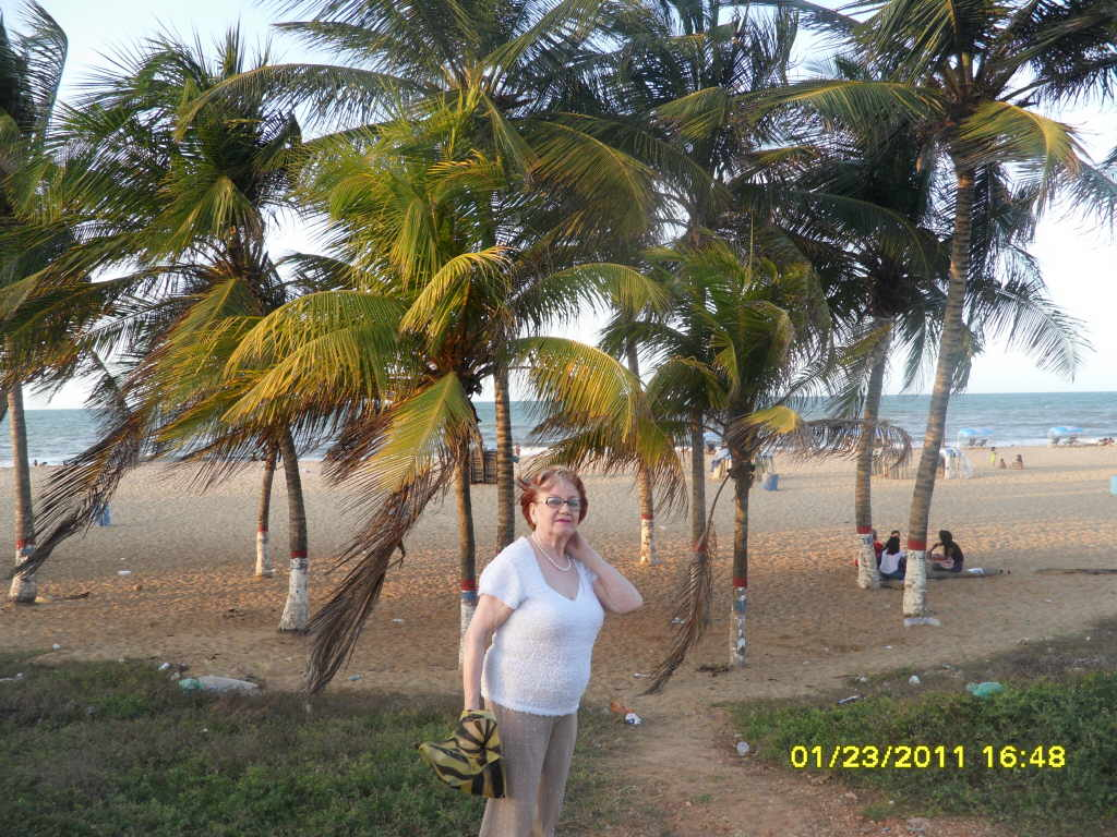 My mother when she came the first time. She never came back because she found the weather too Hot