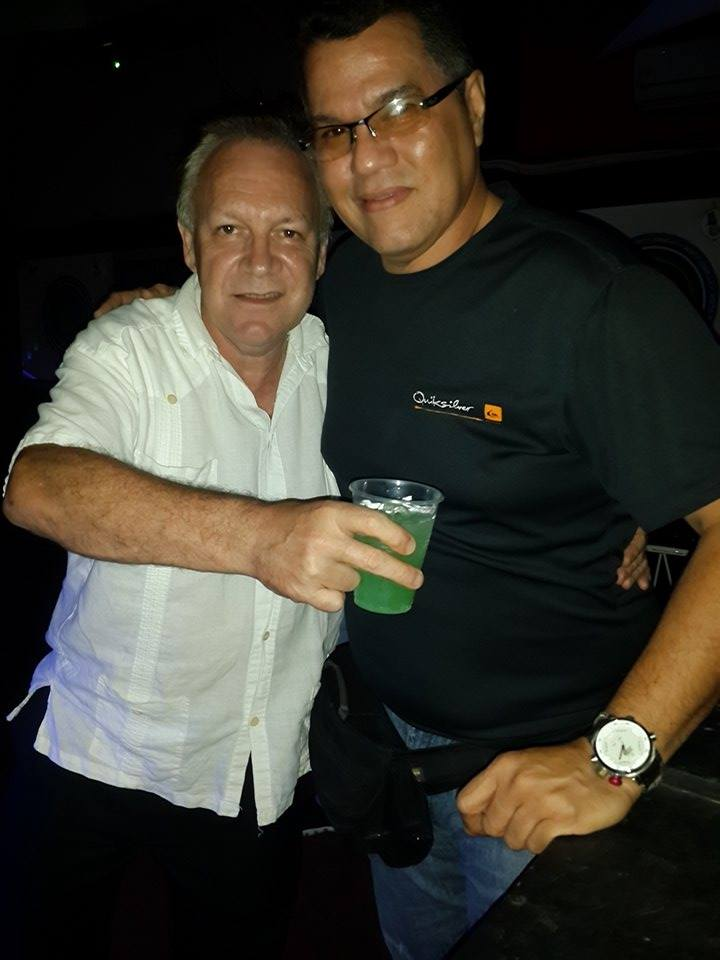 Javier and me at the faro Zona Deejay Discotheca (Puerto Piritu)
